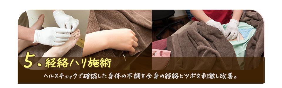 5.経絡ハリ施術